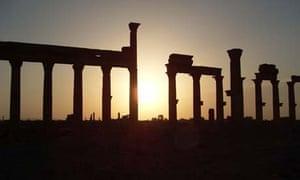 Roman arches in Palmyra, Syria