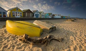 Beach huts at Mudeford, Dorset