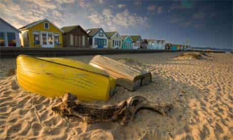 Beach huts at Mudeford, Dorset