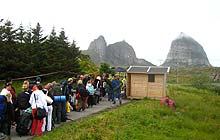 Træna Festival Norway: queuing to get in