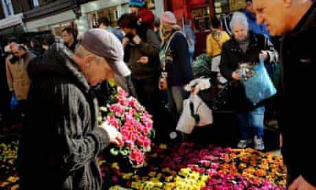 Colombia Road flower market in east London