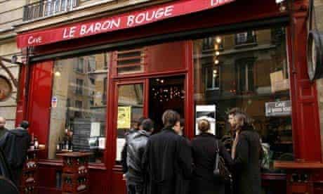 Paris bars a vins: Baron Bouge