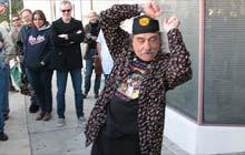 Carl Franzoni outside Vito's Studio, Los Angeles, US