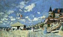 Boardwalk at Trouville by Claude Monet
