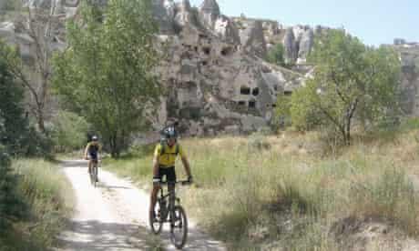 Mountain biking in Cappadocia, Turkey