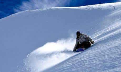 Lesley McKenna snowboarding in Cairngorm, Scotland