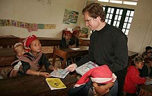 Christopher Hill teaching in Vietnam