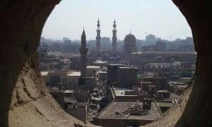 Inside the minaret of the al-Ghouri mosque, Cairo, Egypt