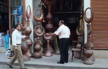 A shop selling minaret finials north of Bein al-Qasrain, Cairo, Egypt