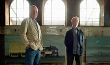 Author Iain Sinclair and film director Chris Petit at the Wapping Project