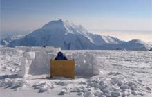 Loo with a view in Mt. McKinley, Alaska
