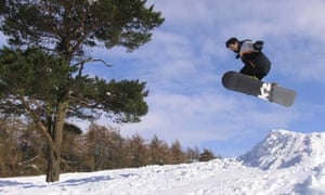Snowboarding in England