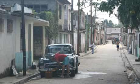 A back street in Santa Clara, Cuba