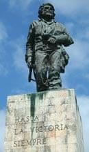 The statue of Che Guevara in Santa Clara, where he is buried
