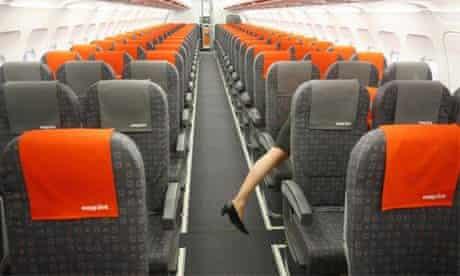 Stewardess on an easyJet plane