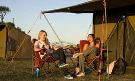 Camping on Cockatoo Island, Sydney, Australia