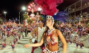 Parade dancers at the Gualeguaychu carnival, Argentina