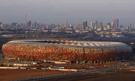 Construction work continues at Soccer City, Johannesburg