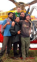 ISRAELI HOSTAGES DANIEL OHAYON, GUY, ALTAWIL AND BRITAINS HENDERSON POSE AFTER BEING FREED BY ...