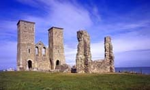Ruins of Reculver Church, near Herne Bay, Kent
