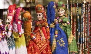 Wooden puppets in Kerala India