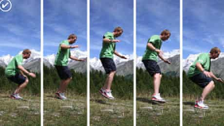 ski exercises: ankle flex test 1