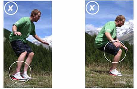 Ski exercises: ankle flex test 2