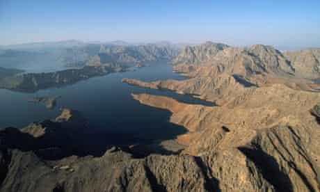 Aerial View of Ormuz Straight, Oman
