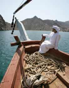 Dhow ship on the Straits of Hormuz, Sultanat of Oman