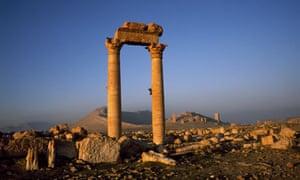 Columns in Palmyra, Syria