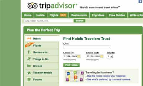 Tripadvisor website screen grab
