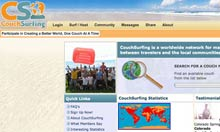 Couchsurfing website screen grab