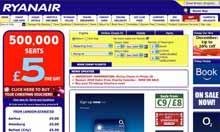 Ryanair website screen grab