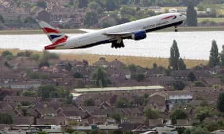 British Airways aircraft taking off from Heathrow