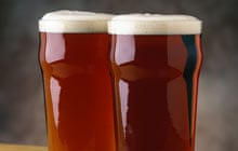 Two pints of real ale