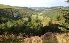 View from Nant yr Arian, Wales