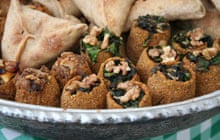 Pastries filled with spinach and lamb in Lebanon