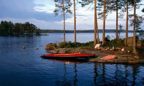 Lake Stora Gla, south of Arvika, Varmland, Sweden