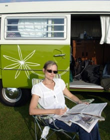 Isabel Choat on a camper van holiday in Essex