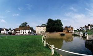 Duck pond and village green, Finchingfield, North Essex