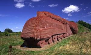 The Brick Train alongside the A66, Darlington, County Durham