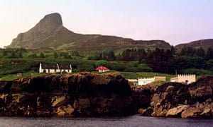 The peak of An Sgurr on Eigg island, Scotland