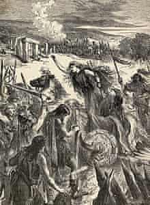 An illustration of Boadicea, Queen of ancient Britain