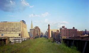 Derelict High Line Park railroad, West Side, Manhattan, New York