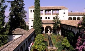 Court of the Long Pond at the Alhambra in Granada