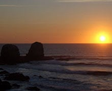 Punta Lobos beach, Chile