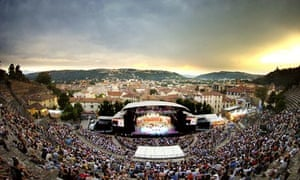 General view of the antic theatre at Vienne Jazz Festival