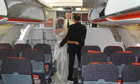 A mocked-up marriage on an easyJet flight
