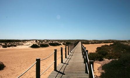 Beach boardwalk, Culatra, Portugal