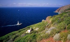 Coast by Zenobito Tower, Capraia Island, Tuscany, Italy